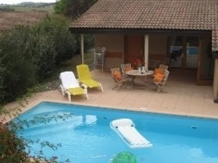 Te huur villa 39 chateau de barbet 50 39 gers lombez huizen frankri - Terras met zwembad ...