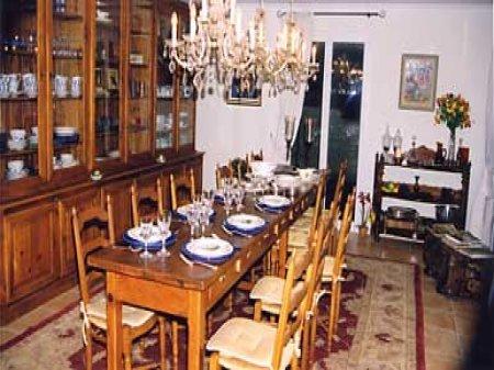 Te huur villa 39 huize hannen 39 gard goudargues huizen frankrijk n - Foto eetkamer ...
